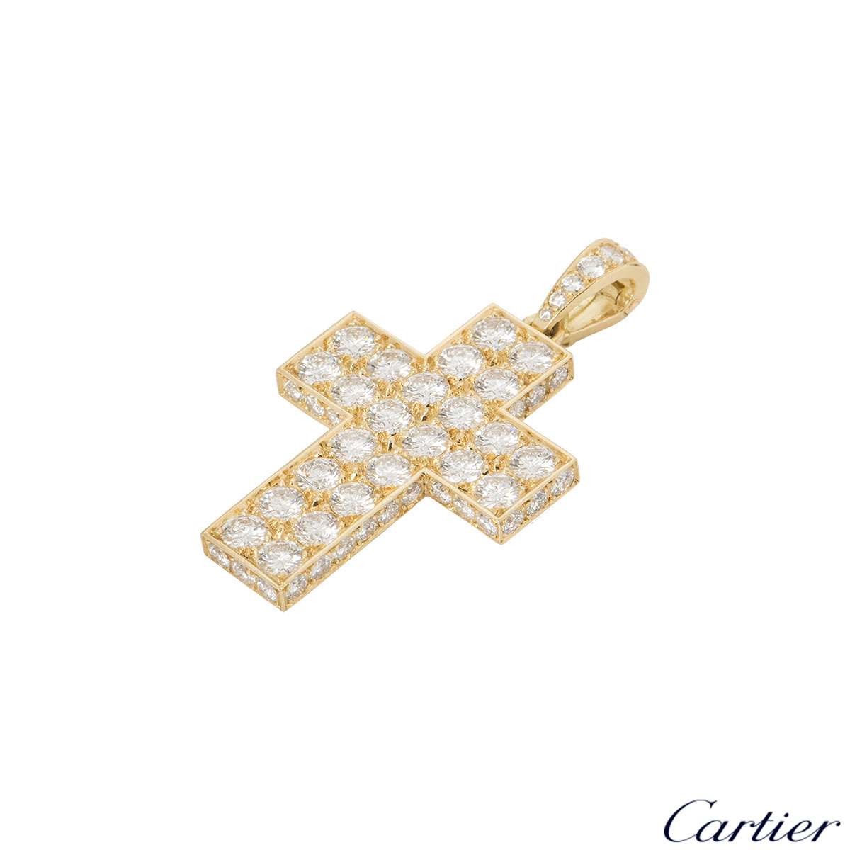 Cartier Diamond Cross Decor Pendant HP300029